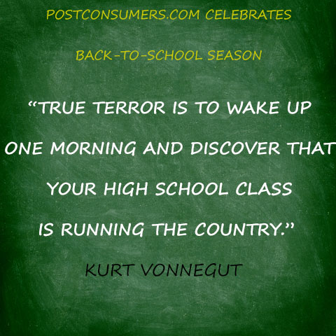 Back To School Quote Kurt Vonnegut On The Future Postconsumers