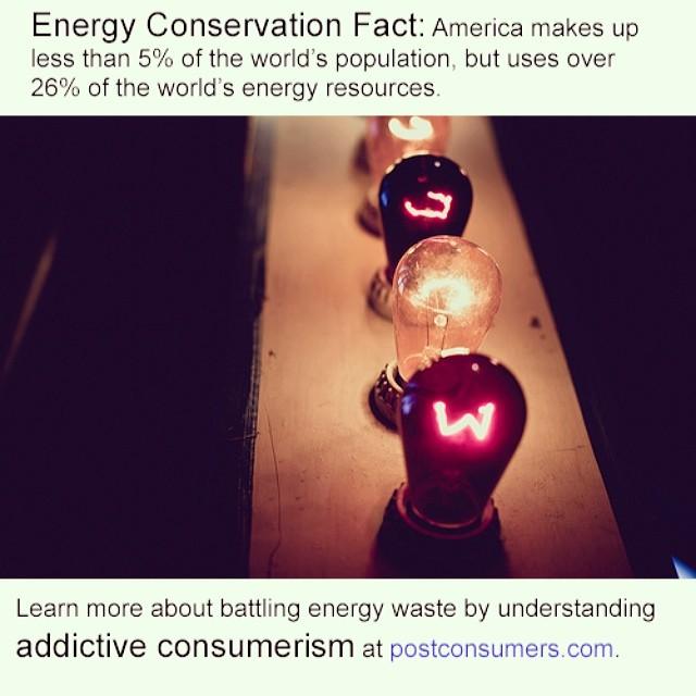 Environmental fact energy conservation postconsumers for Facts about energy conservation