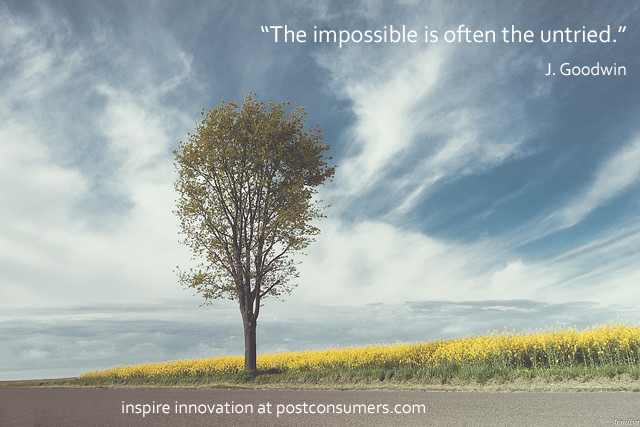 the impossible is often untried The impossible is often the untried quotes - 1 the impossible is often the untried read more quotes and sayings about the impossible is often the untried.