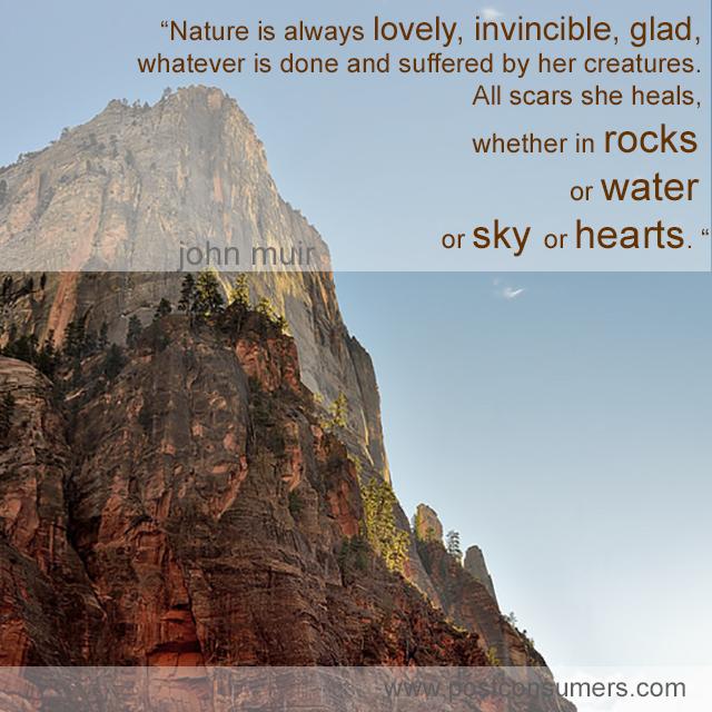 Favorite John Muir Quotes Nature Heals Postconsumers