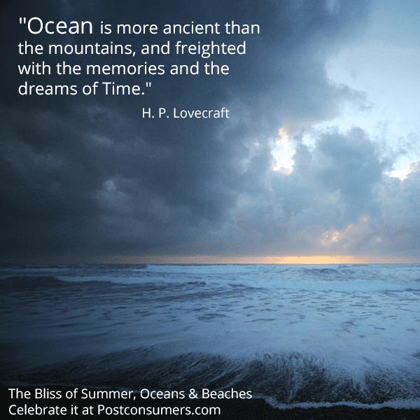 Quotes About Ocean Favorite Ocean Inspiration Quotes The Ancient Ocean  Postconsumers